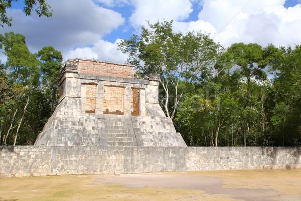 Чичен-Ица мяча суд Мексика стены фон Сток-фото © lunamarina