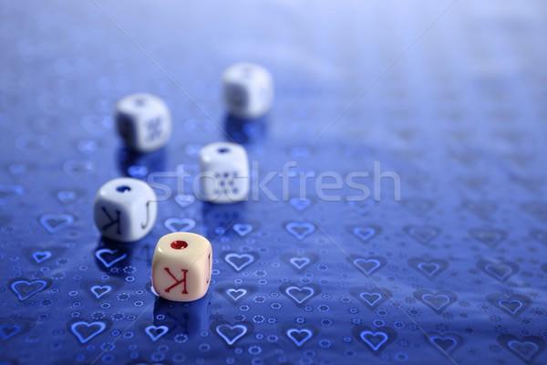 Stok fotoğraf: Poker · renkli · seçici · odak · soyut · dizayn · arka · plan