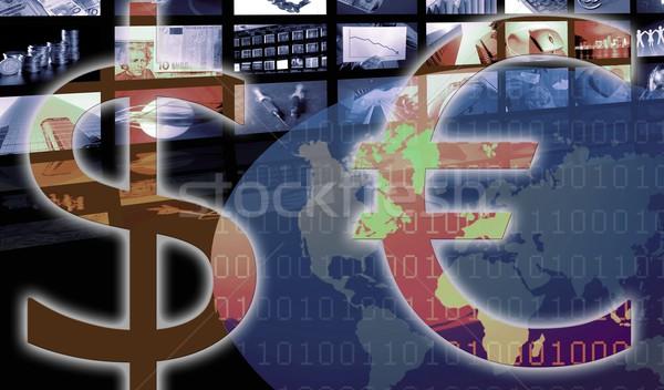 Euro dollár valuta vállalati üzlet illusztráció Stock fotó © lunamarina
