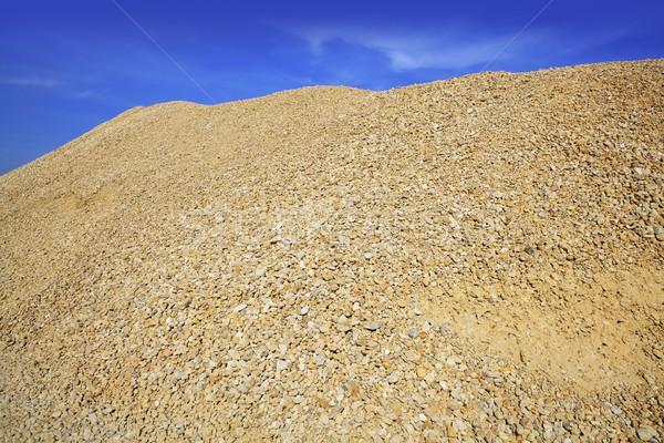 Beton citromsárga sóder homok hegy építkezés Stock fotó © lunamarina
