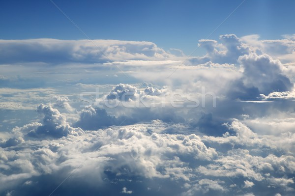 Blue sky view from aircraft airplane Stock photo © lunamarina
