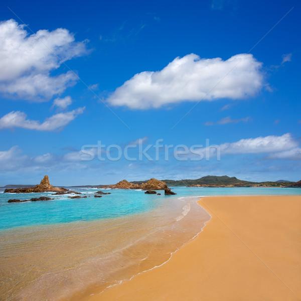Cala Pregonda in Menorca at Balearic islands Stock photo © lunamarina