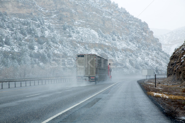 Neige 15 interstate route Nevada USA Photo stock © lunamarina