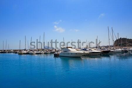 Marina kék mediterrán Spanyolország tengerpart víz Stock fotó © lunamarina
