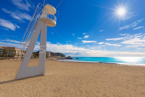 La strand Spanje middellandse zee zee achtergrond Stockfoto © lunamarina