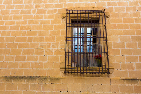 Javea Sant Bertomeu church window in Alicante Stock photo © lunamarina