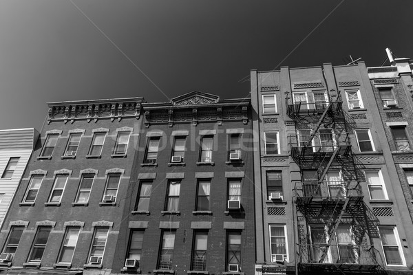 Brooklyn brickwall facades in New York US Stock photo © lunamarina