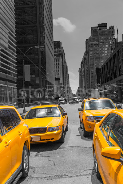 Photo stock: Times · Square · New · York · jaune · taxi