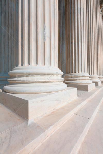 Supreme Court of United states columns row Stock photo © lunamarina