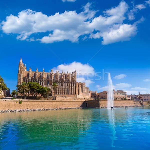 Majorca Palma Cathedral Seu Seo of Mallorca Stock photo © lunamarina