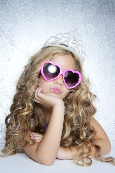fashion victim little princess girl portrait Stock photo © lunamarina