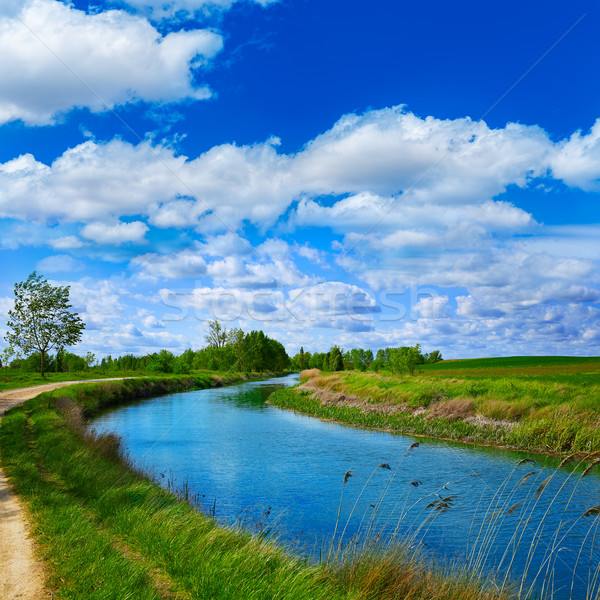 Canal canal saint façon eau bleu Photo stock © lunamarina