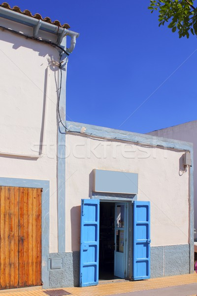 white mediterranean house detail Formentera Stock photo © lunamarina