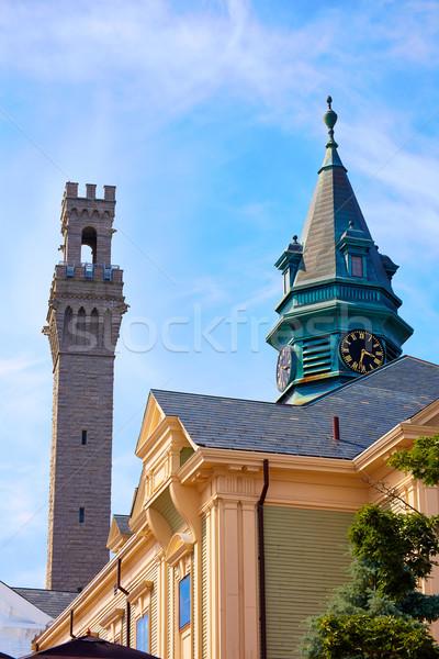 Cape Cod Provincetown Pilgrim tower Massachusetts Stock photo © lunamarina