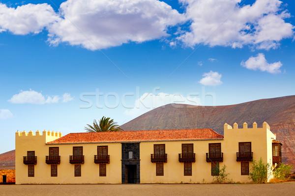 Casa de los Coroneles Fuerteventura La Oliva Stock photo © lunamarina