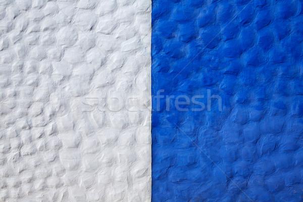 Canárias branco parede Espanha projeto azul Foto stock © lunamarina