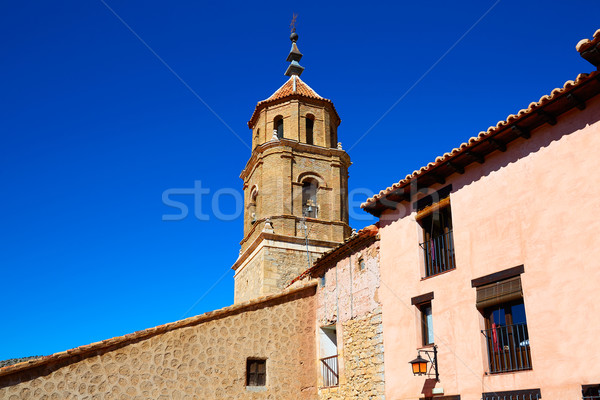 średniowiecznej miasta Hiszpania w. ściany ulicy Zdjęcia stock © lunamarina