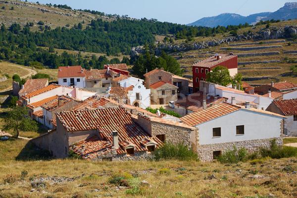 Köy İspanya şehir mavi ülke tatil Stok fotoğraf © lunamarina