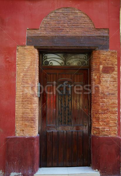 Валенсия двери старый город Испания здании улице Сток-фото © lunamarina