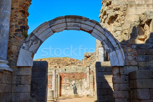 Foto stock: Romano · anfiteatro · Espanha · la · edifício · cidade