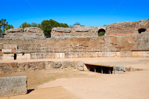 Romeinse amfitheater Spanje la gebouw stad Stockfoto © lunamarina
