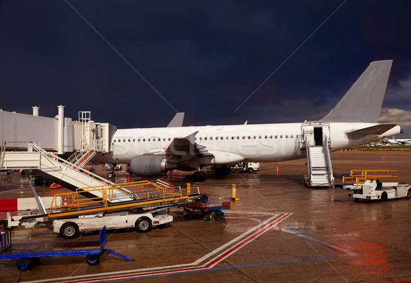 Airport detail in a stormy evening Stock photo © lunamarina