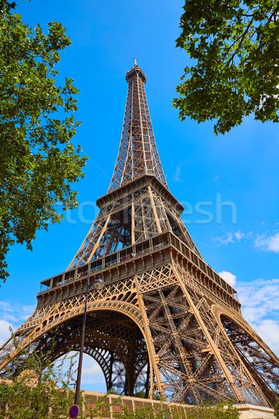 Эйфелева башня Париж Франция небе город синий Сток-фото © lunamarina