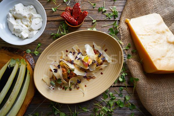 Bakłażan ser przepis włoskie jedzenie obiedzie Zdjęcia stock © lunamarina