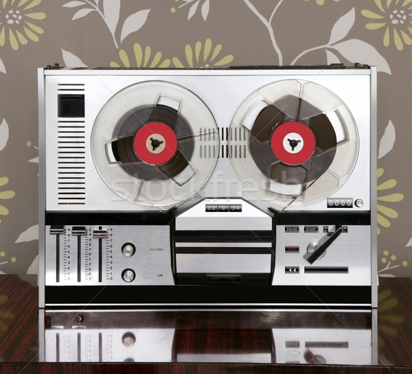 classic retro reel to reel open 60s vintage music Stock photo © lunamarina