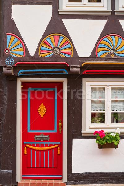 Madera Alemania montanas ciudad calle Europa Foto stock © lunamarina