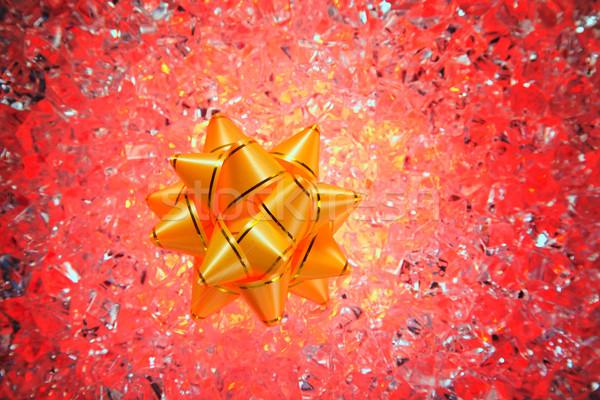 Natale regalo nastro rosso ghiaccio Foto d'archivio © lunamarina