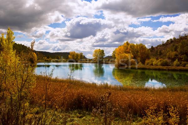 Laguna del Marquesado lake lagoon in Cuenca Spain Stock photo © lunamarina