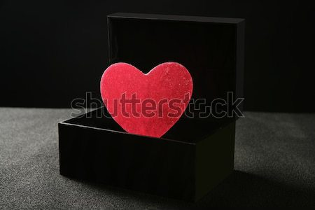 Candy hearth in a black box Stock photo © lunamarina