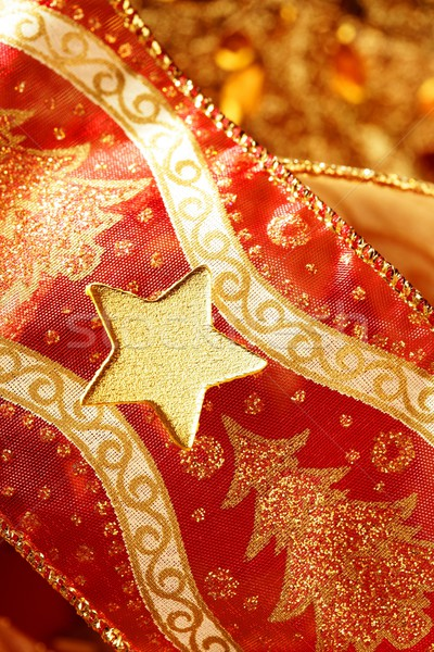 Christmas golden decoration with gold star Stock photo © lunamarina