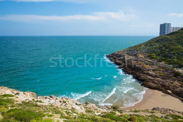 Plaj mavi akdeniz İspanya su arka plan Stok fotoğraf © lunamarina
