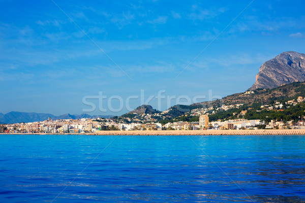 Javea Xabia skyline from Mediterranean sea Spain Stock photo © lunamarina