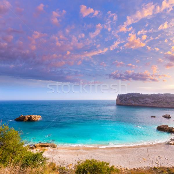 Javea Playa Ambolo beach Xabia in Alicante Stock photo © lunamarina