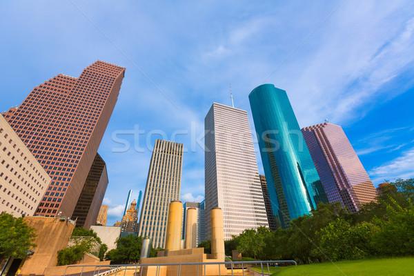 Houston horizonte tranquilidad parque Texas cielo Foto stock © lunamarina
