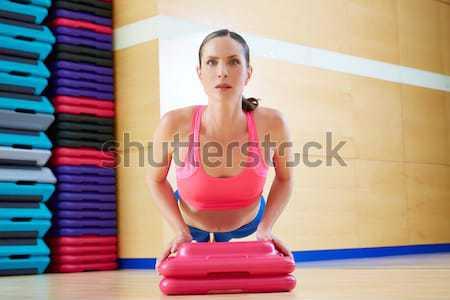 Pilates nő testmozgás kígyó edzés tornaterem Stock fotó © lunamarina