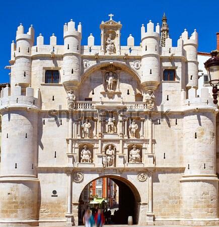 Boog Spanje kathedraal stad straat Stockfoto © lunamarina