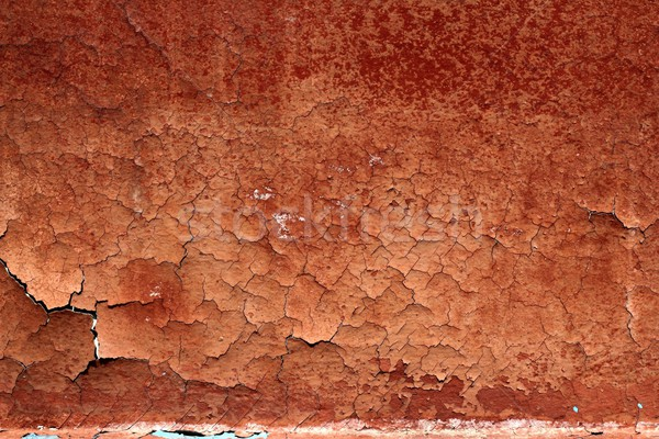 grunge red brown aged crackle wall texture Stock photo © lunamarina