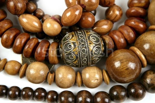 Africano jóias textura madeira fundo Foto stock © lunamarina