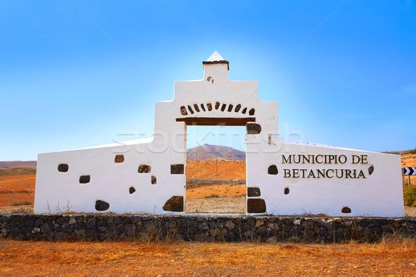 приветствую знак Канарские острова небе стены синий Сток-фото © lunamarina