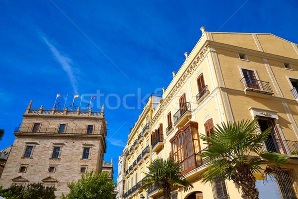バレンシア ラ 広場 パラオ スペイン 通り ストックフォト © lunamarina