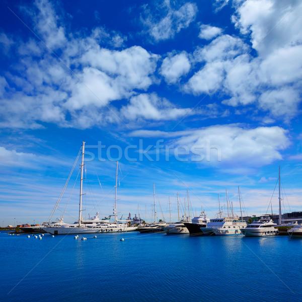 Stok fotoğraf: Valencia · marina · liman · akdeniz · İspanya · deniz