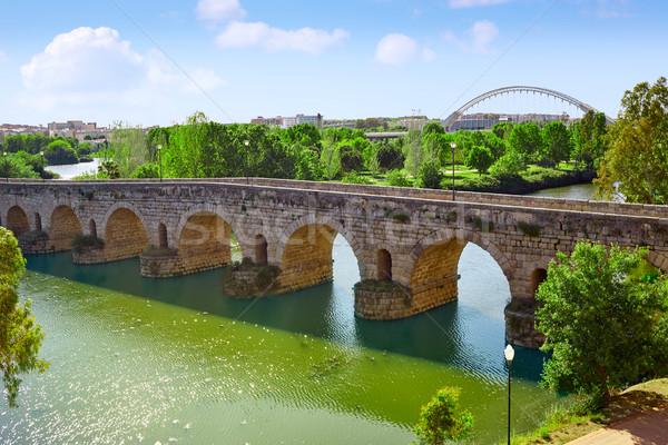 Spanje Romeinse brug rivier architectuur antieke Stockfoto © lunamarina