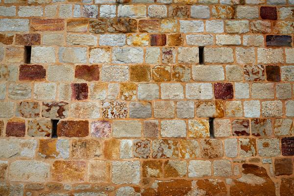 Pierre maçonnerie mur détail Espagne texture Photo stock © lunamarina