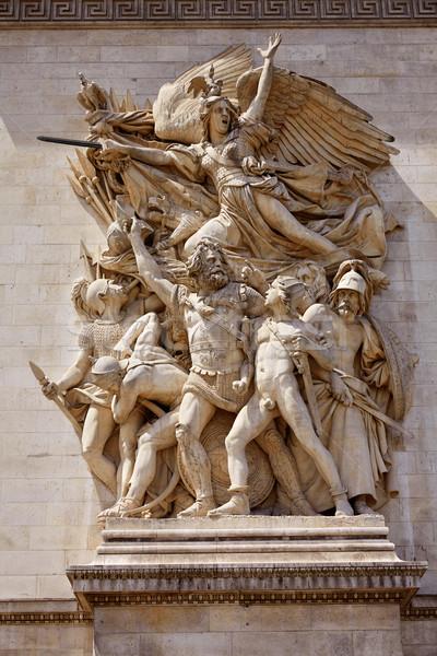 Foto stock: Arco · do · Triunfo · Paris · arco · triunfo · pormenor · França