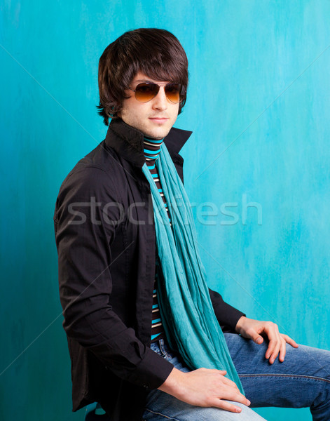 british indie pop rock look retro hip young man Stock photo © lunamarina