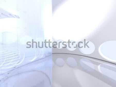 Stockfoto: Futuristische · moderne · glas · kantoor · gebouw